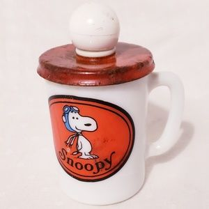 Vintage Avon Pilot Snoopy Jar